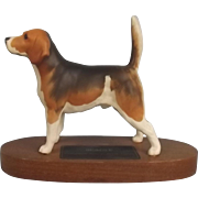 Beswick Mounted Pottery Beagle