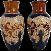 Circa 1900 Eliza Simmance No. 919 Doulton Lambeth Vase