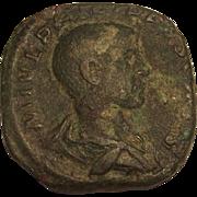 Late Roman Empire 3rd Century Philip II As Caesar Serstetius Coin