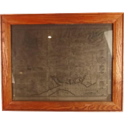 Circa 1611 Framed Map Of Hampshire By John Speed