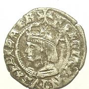 15th Century Spanish King Ferdinand V/ Fernando II de Aragon Silver Coin