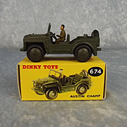 Boxed Dinky Toys 674 Austin Champ