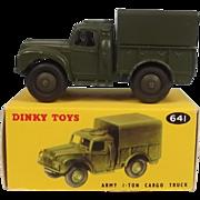 Dinky Toys 641 Army 1-Ton Cargo Truck 1954-61