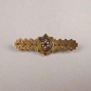 Circa 1833 9ct Yellow Gold & Pearl Brooch