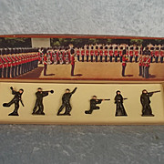 Boxed Britains Crown Range Set No. 8s British Infantry In Battledress