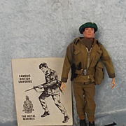 Vintage Circa 1972 Action Man Combat Marine & Leaflet