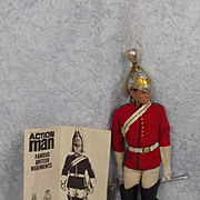 Vintage Action Man The Life Guards Red Uniform & Leaflet