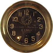 Brass 8 Day Chelsea Clock Co. U.S. Navy Deck Clock No. 2