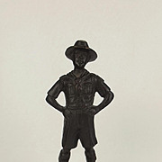 Early 20th Century Small Bronze Figure Of A Boy Scout