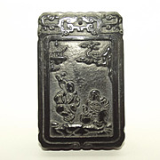 Deep Green Jade Chinese Fairy Tale Pendant