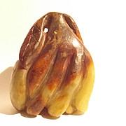 Chinese Nephrite Jade Ming Period Buddha Hand Lemon Fruit Sculpture