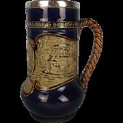 Royal Doulton Silver Collared Stoneware Lord Nelson Commemorative Jug