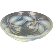 Opalescent Glass Bowl Decorated With Cherries By G. Vallon