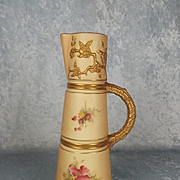 1908 Royal Worcester Blush Ivory Claret Jug