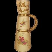 1908 Royal Worcester Blush Ivory Claret Jug