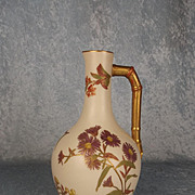 1890 Large Victorian Royal Worcester Blush Ivory Bottle Vase