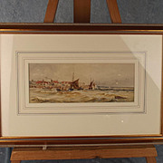 1890 Dated Thomas Bush Hardy Signed Coastline Watercolour