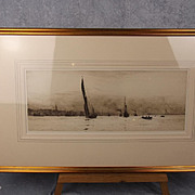 William Lionel Wyllie (1851-1931) - Unsigned Engraving -  Sailing Ships At Ryde