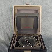 Chronometer Style Bucherer Swissonic Quartz Metal Table Clock