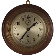 Barkers Of Kensington Brass Cased Eight Day Ships Wall Clock