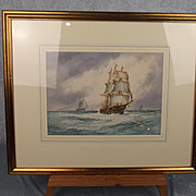 Aubrey Ramus (1895-1950) – Masted Sailing Vessel Signed Watercolour