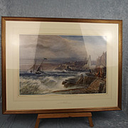 William James Collcott (1843-1890) – Masted Sailing Vessel Signed Watercolour
