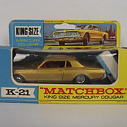 Matchbox Superking No. K-21 – Mercury Cougar Car - Rare Red Interior