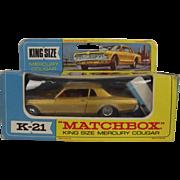 Matchbox Superking No. K-21 – Mercury Cougar Car - Rare Red Interior