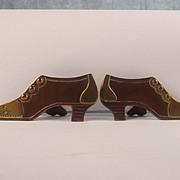 Pair Of Boer War Era Brass Boot Shaped Trench Art Paper Weight