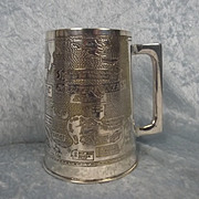 Silvered WW2 Trench Art North African campaign Tankard