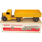 Boxed Dinky Toys 521 Bedford Yellow Articulated Lorry