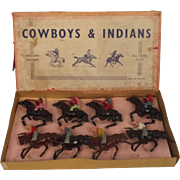Boxed John Hill Co Cowboys & Indians No 26250/1 Metal Figures