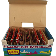 Britains Herald Floating Models 4501 14 Indian Canoes Counter Trade Pack