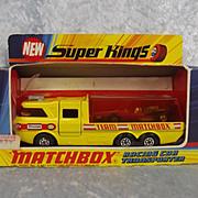 Matchbox Speed Kings K-7 Racing Car Transporter & No 34 Formula One Racing Car