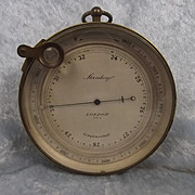 Stanley Of London Brass Cased Compensated Barometer