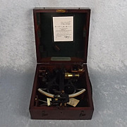 Cased Hughes Patent 702 Three Circle Frame Naval Sextant