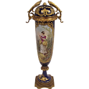 Late 19th Century Sèvres Cylindrical Vase With Cover