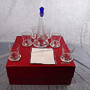 1998 Boxed Baccarat Cap Horn Edition Limited Glass Decanter & Beaker Set