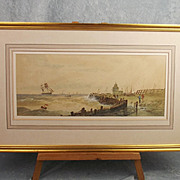 """Framed """"Off Calais"""" By Thomas Bush Hardy"""