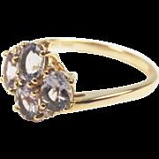 10ct Yellow Four Stone Iolite Ring UK Size P 1/2 US 8