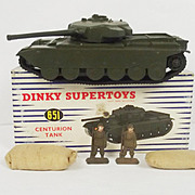 Boxed Dinky 651 Centurion Tank & Lid Of Box