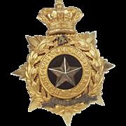 26th Cameronians Helmet Plate