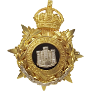 The Devonshire Regiment Officers Home Service Helmet Plate