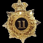 11th Regiment Of Foot Helmet Plate
