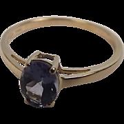 10 Ct Yellow Gold Iolite Ring UK Size P+ US Size 8