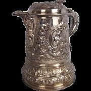 Circa 1688 James II Silver Lidded Tankard