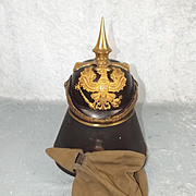 Cased M1860 Imperial German Prussian Officers Pickelhaube