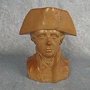 Circa 1870 Doulton & Watts Lambeth Lord Nelson Bust Jug