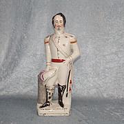 Circa 1880s Staffordshire Ceramic Figure Of Louis Napoleon