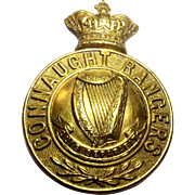 Victorian Connaught Rangers Helmet Badge